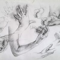 Etude de mains et pieds