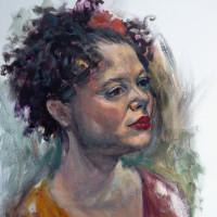 Alice huile sur toile, 45 x 55 cm, 2010