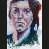 Autoportrait 2 acrylique sur papier, 21 x 29,7 cm, 2002