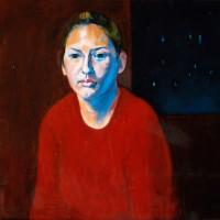 Aurelie huile sur toile, 60 x 60 cm, 2002
