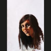 Autoportrait 1 acrylique sur papier, 30 x 40 cm, 2007