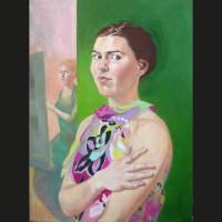 Autoportrait 3 huile sur toile, 60 x 80 cm, 2003