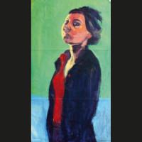 Autoportrait 4 acrylique sur papier, 110 x 61 cm, 2002