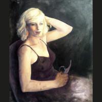 Cécile D.  61 x 50 cm huile sur toile