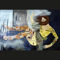 Charme inattendu huile sur toile, 146 x 197 cm