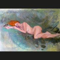 Conversation  33 x 46 cm huile sur toile