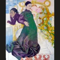 Chinoiserie huile sur toile, 162 x 130 cm, 2009