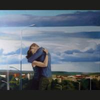 Ensemble 81 x 65 cm huile sur toile