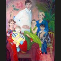 Famille Marquet-Ellis huile sur toile, 90 x 110 cm, 2008