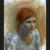 Fanny huile sur toile, 45 x 55 cm, 2006