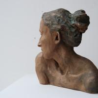 Frisson, terre cuite patinée, 23 x 22 x11 cm (2)