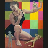 Hystérie huile sur toile, 146 x 114 cm, 2006