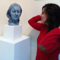 Céline Normant et le buste d'Iris