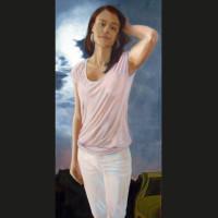 Maureen 80 x 40 cm huile sur toile