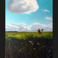 Jeux 61 x 50 cm huile sur toile