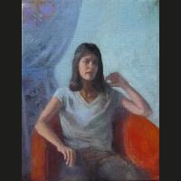Julia huile sur toile, 41 x 33 cm, 2008