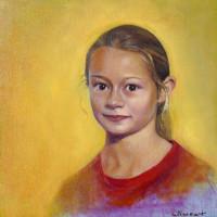 Manon huile sur toile, 30 x 30 cm, 2009