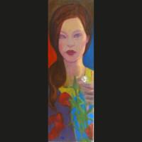 Marguerite  60 x 20 cm huile sur toile
