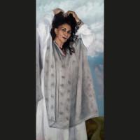 Marie 80 x 40 cm huile sur toile