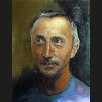 Martin B., huile sur toile.