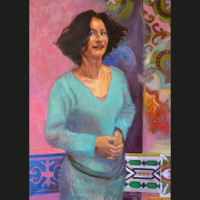 Maryse_Durande huile sur toile, 65 x 54 cm, 2009