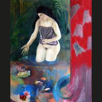 Parenthèse huile sur toile, 162 x 130 cm