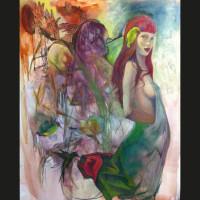 Parfum  huile sur toile, 162 x 130 cm