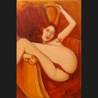 Renversant 18 x 12 cm huile sur toile