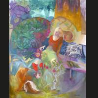 Songe huile sur toile, 162 x 130 cm