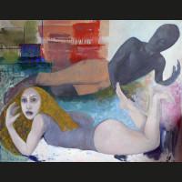 Surprise huile sur toile, 162 x 130 cm, 2008