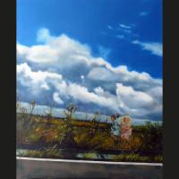 Un instant 61 x 50 cm huile sur toile