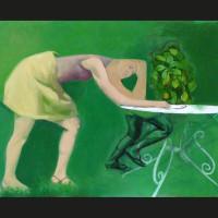 Cache cache huile sur toile, 38 x 46 cm, 2007