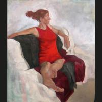 Claire huile sur toile, 61 x 54 cm, 2006